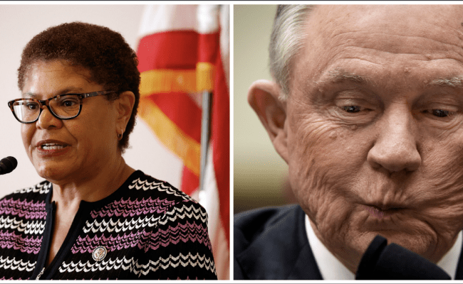 Rep Karen Bass Ate Jeff Sessions For Lunch And It Was