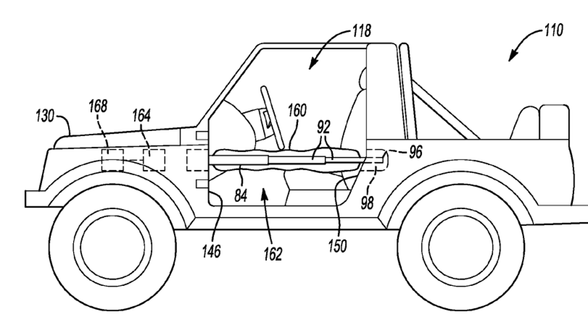 Ford Designed A Deployable Airbag Mechanism For Off-Road