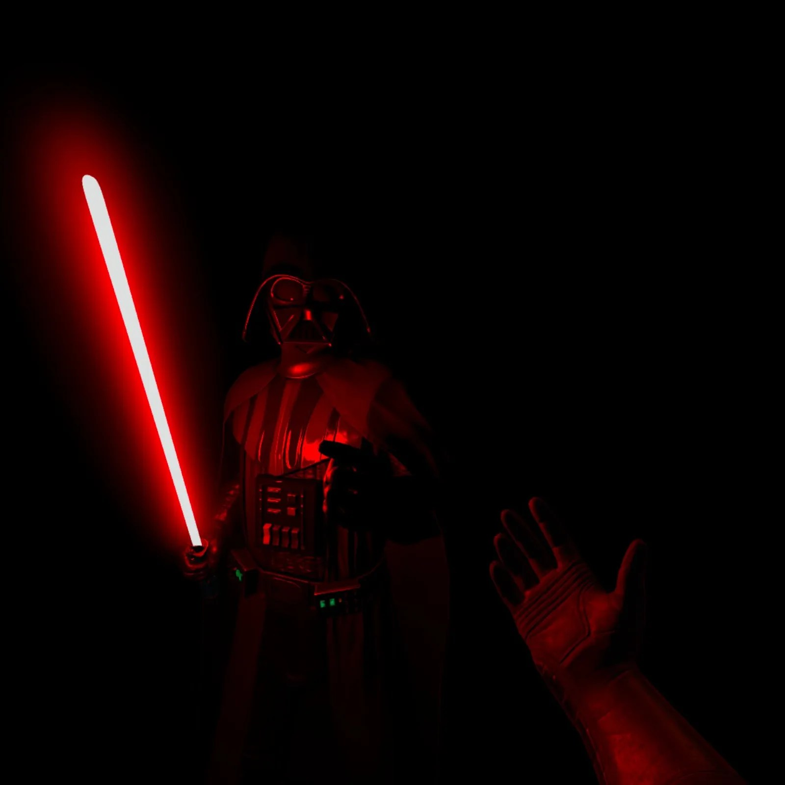 Screenshots will never do VR justice, but let's say its a lot harder to turn down the dark side when a large Sith lord is threatening you with a lightsaber.