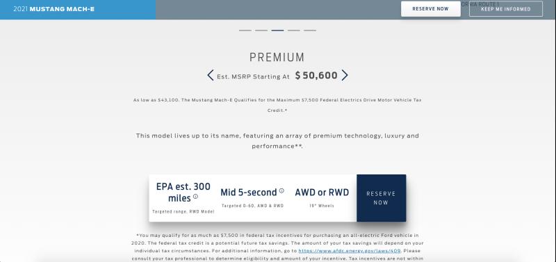 Ford Mustang Mach-E Premium Edition