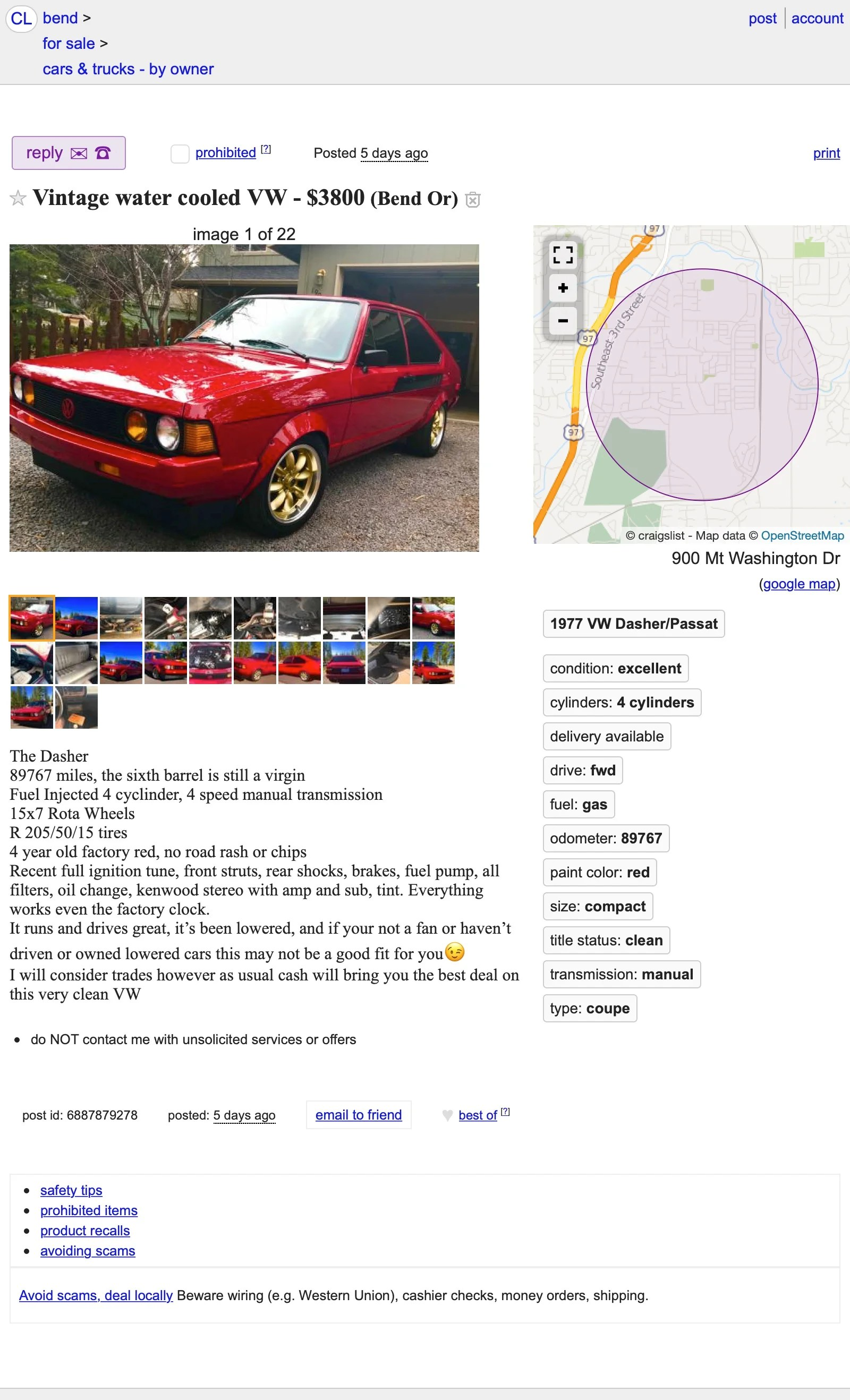 Craigslist Bend Cars And Trucks By Owner : craigslist, trucks, owner, ,800,, Could, Classic, Dasher, Dashing, Purchase?