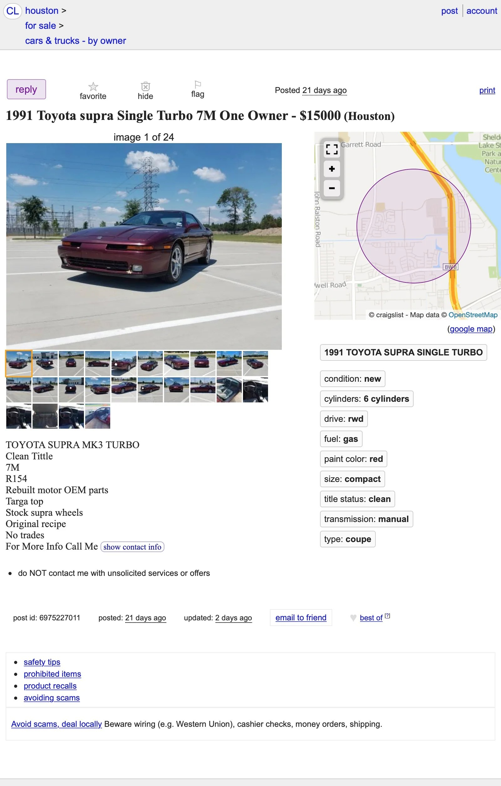Craigslist Houston Texas Cars And Trucks For Sale By Owner : craigslist, houston, texas, trucks, owner, ,000,, Supra, MKIII, Turbo, Toyota, Could, With?