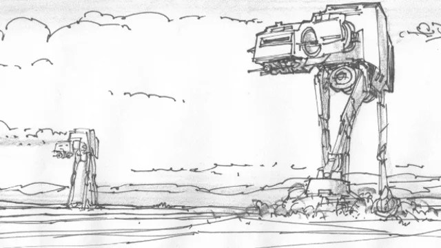 Unseen Empire Strikes Back Storyboards Detailing the