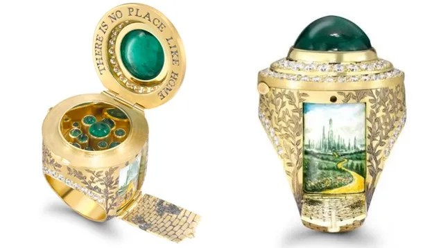 Images From Famous Books Hide In The Secret Compartments Of These Rings