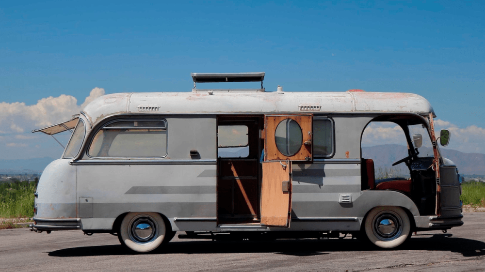 medium resolution of this amazing porsche 356 powered fwd camper is up for auction and may be the slowest porsche ever