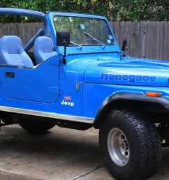 at 9 500 could this 1976 jeep cj7 levi s edition be your blue jean queen  [ 1600 x 900 Pixel ]