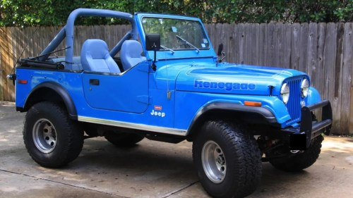small resolution of at 9 500 could this 1976 jeep cj7 levi s edition be your blue jean queen