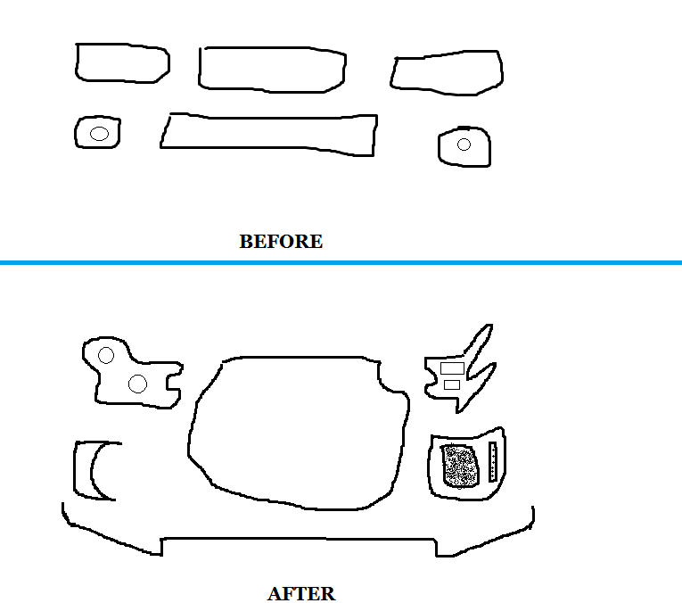 Car faces: Then and now