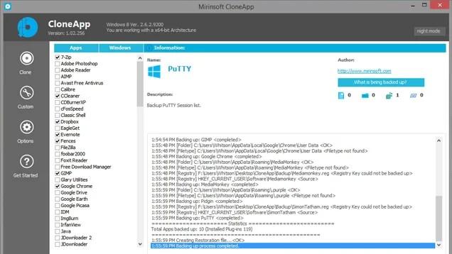 CloneApp Backs Up All Your Windows Program Settings