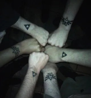 The Fellowship Of The Zelda Tattoos
