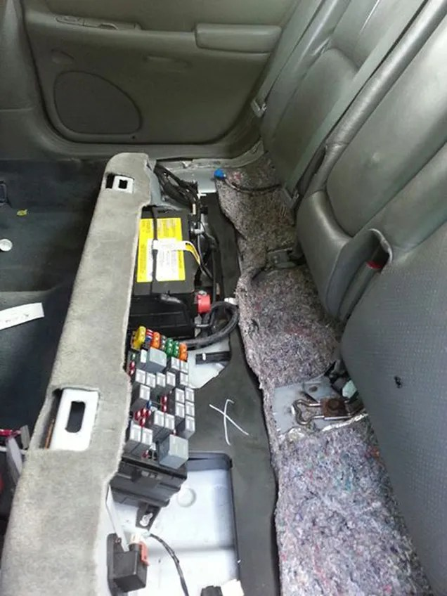 2001 Cadillac Deville Battery Location