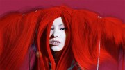 lady in crazy red hair