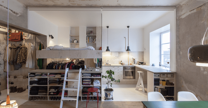 Ilration For Article Led This Tiny Apartment Is Built Inside A 30 Year Old