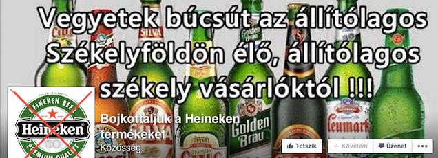 Székelyföld nem létezik? Alaposan kihúzta a gyufát a Heineken!
