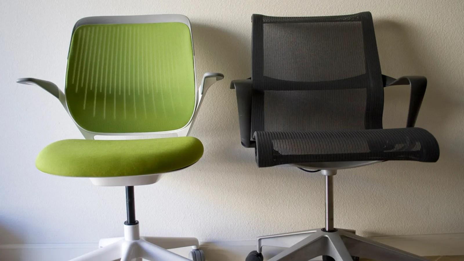 office chair vs task glass tables and chairs battlemodo herman miller setu steelcase cobi