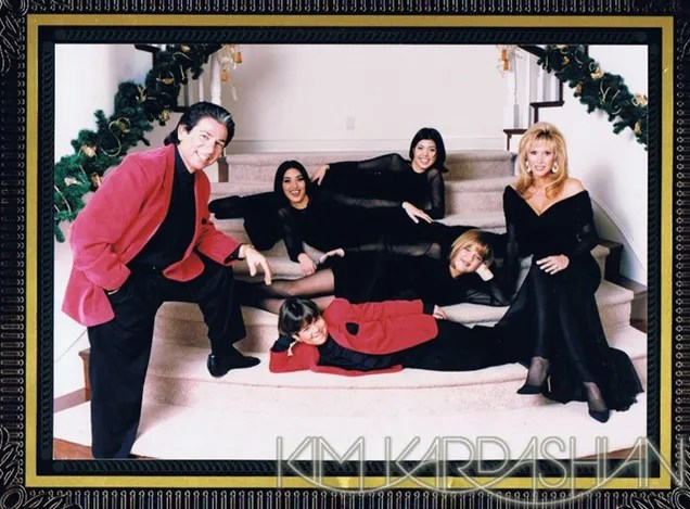 Vintage Kardashian Holiday Cards Old Noses Awkward Poses