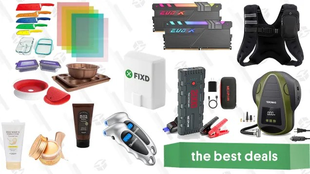 f1sby9d2bloxdzfbctmu Sunday's Best Deals: FIXD Vehicle Diagnostic Tool, Kitchen Solutions Bundle, Skinfood Products, Compact Tire Inflator, and More | Gizmodo