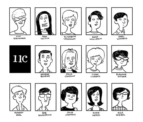 Guy Draws Mom's Entire High School Yearbook As Cartoons