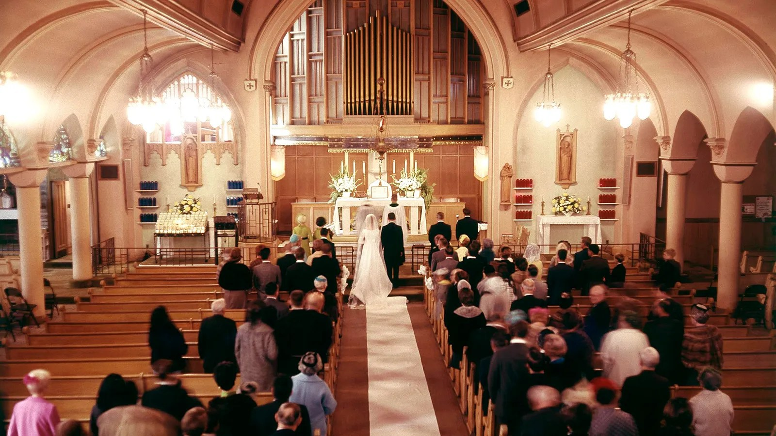 Weird Wedding Has Some Kind Of Religious Theme