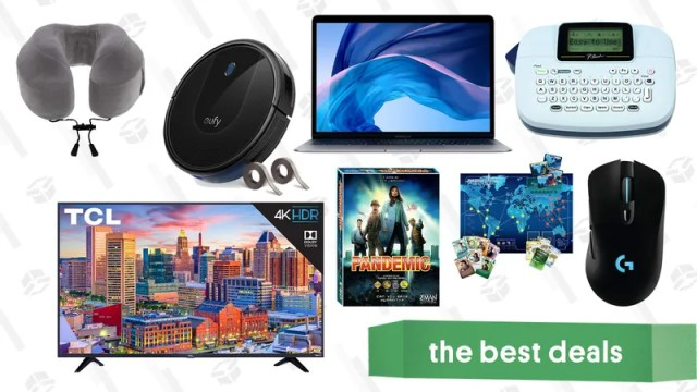 """Illustration for article titled Monday's Best Deals: Macbook Air, Eufy RoboVac 30, Pandemic, 55"""" TCL TVs, and More"""