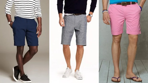 wearing khaki shorts for men