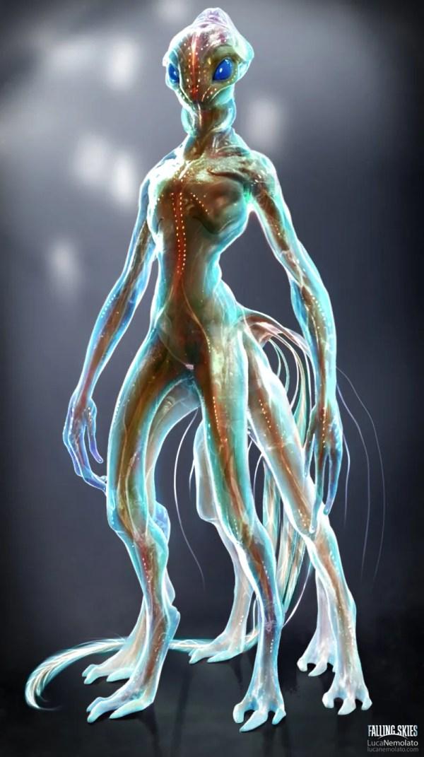 Alien Humanoid Creature Concept Art