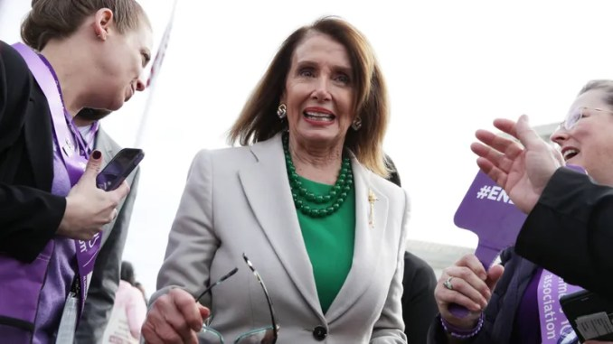 Illustration for article titled Nancy Pelosi Says a 'Glass of Water' Could Have Won AOC's District