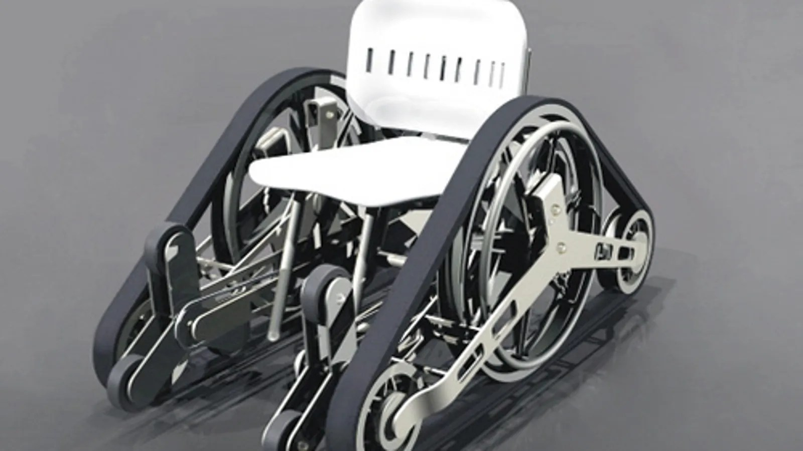 tank chair wheelchair maccabee double folding chairs stairs aren 39t a problem with futuristic tread