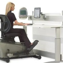 Chair Gym Workout Videos Side Table The Elliptical Machine Office Desk: Out, Work Workout!