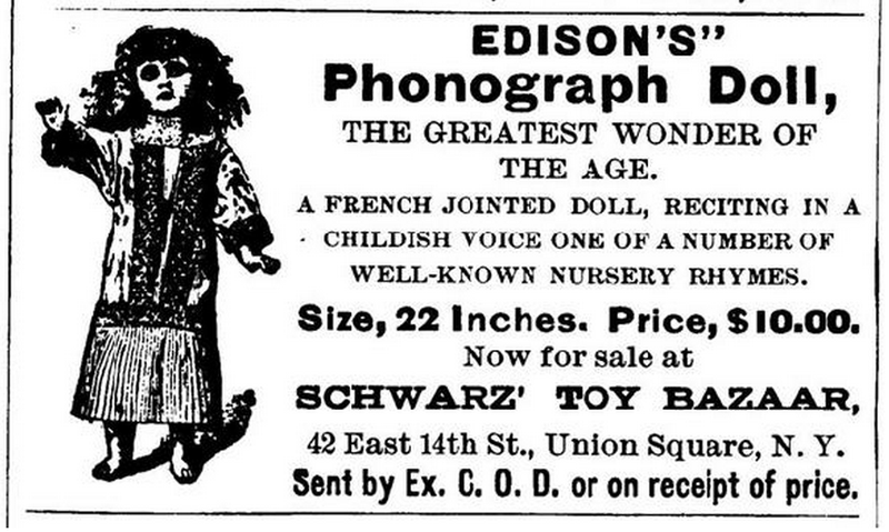 Listen to Thomas Edison's Scary Talking Dolls and Never