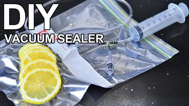 Build a Homemade Vacuum Sealer With Just a Few Dollars