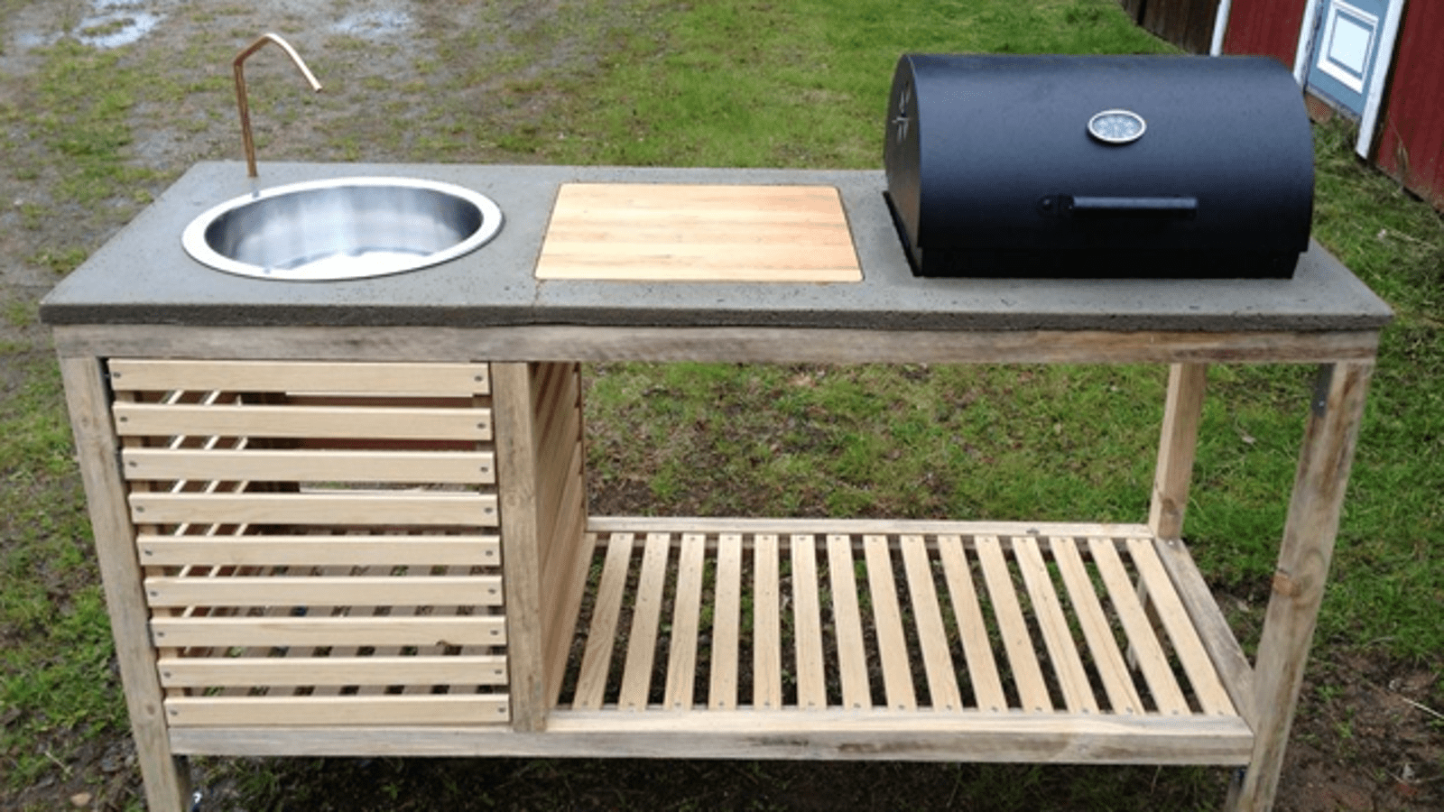 portable outdoor kitchen frosted glass cabinet doors build a
