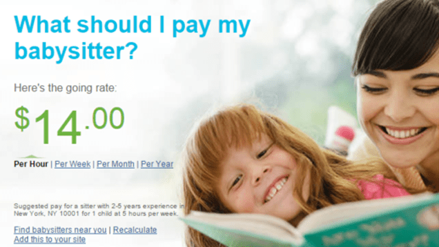 This Calculator Shows How Much You Should Pay Your Babysitter