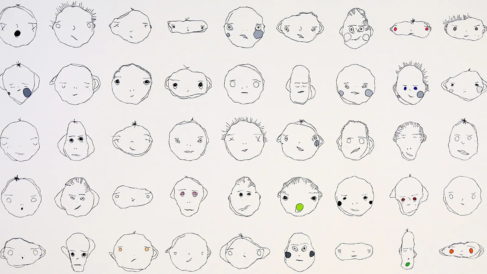 These Weird Cartoon Faces Are All Drawn By an Algorithm