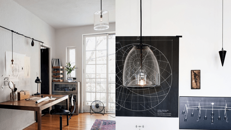 The Illuminated Workspace of a Lighting Designer and Glass Artist
