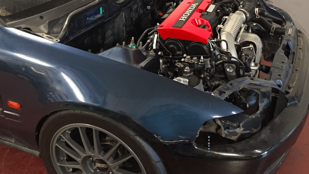 hight resolution of this madman is stuffing a new honda civic type r motor into a 1992 civic hatch