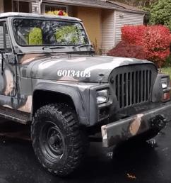 od green jeep cj5 [ 1200 x 675 Pixel ]