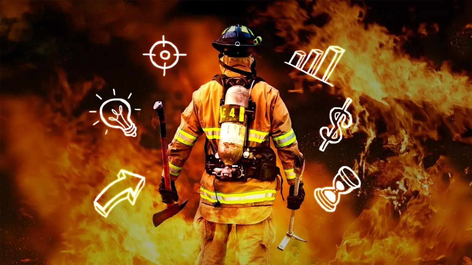hight resolution of firefighter gear diagram