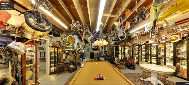 Walk Around Adam Savage's Mini-Museum on Google Street View
