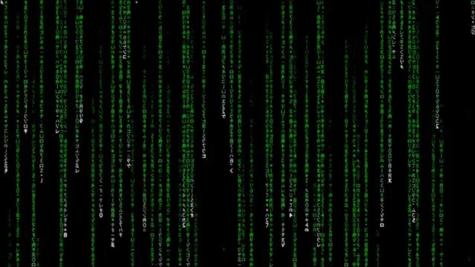 It turns out the Matrix code is actually just a bunch of
