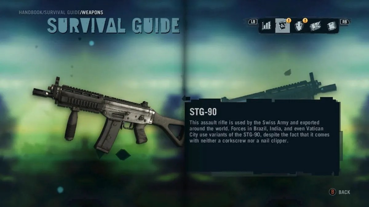hight resolution of the weapons in far cry 3 are great but the weapon descriptions are even better