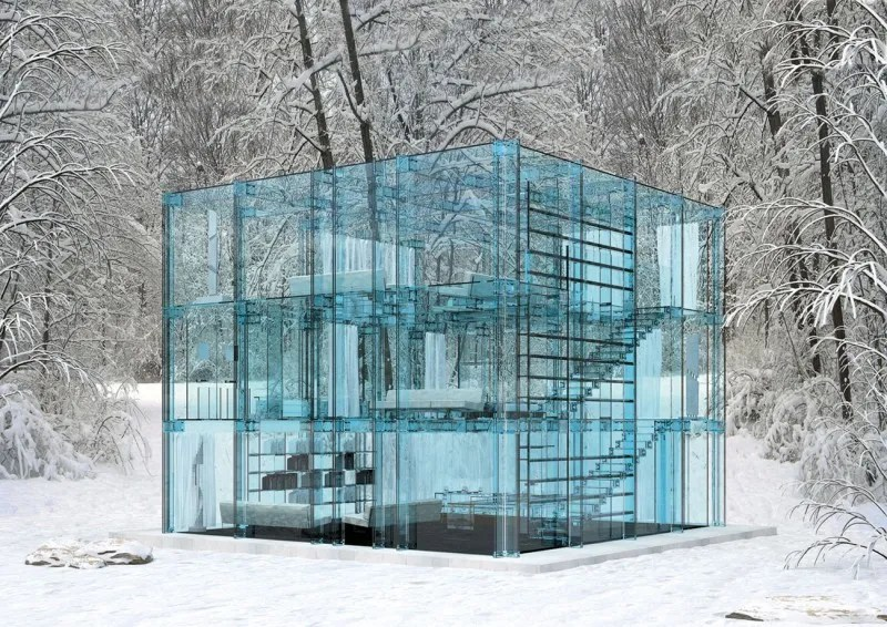 Wonderful Beautiful Glass Houses Built In Extreme Landscape Area