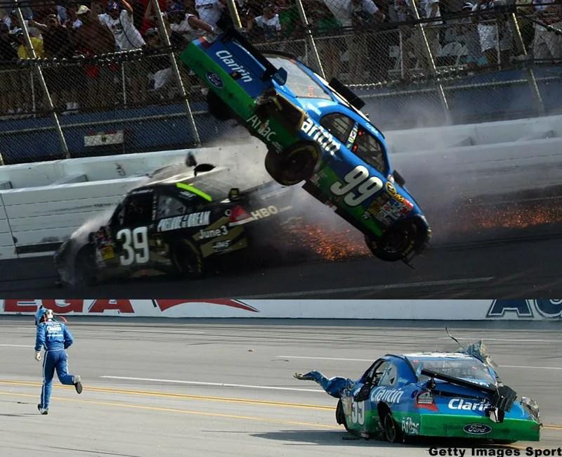 Carl Edwards RealLife Talladega Nights NASCAR Crash