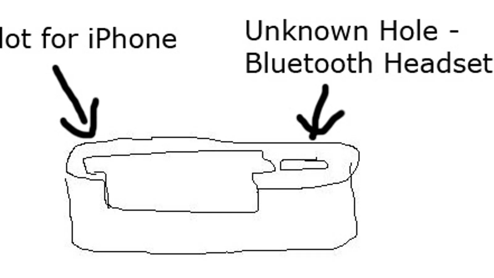 Leaked: The Apple iPhone Dock With Bluetooth Headset Hole
