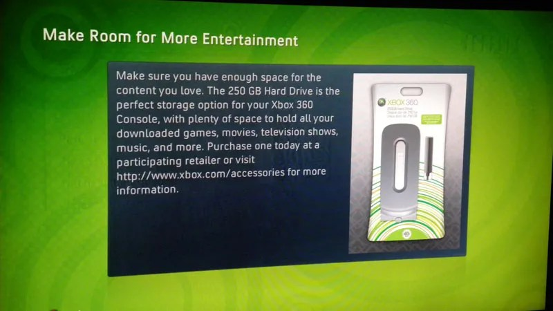 The 250GB Xbox 360 Hard Drive Stands Alone