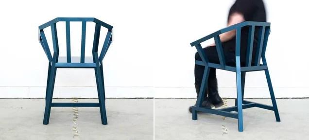An Elegant Angular Take on an Old Stick Chair