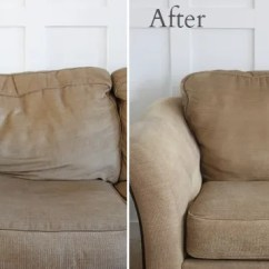 How To Fix Sofa Back Cushions Much Does A Quality Leather Cost Revitalize Saggy Couch With Poly-fil And Quilt ...