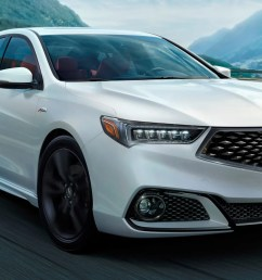 the 2018 acura tlx brings back a mild performance trim with a new angry face [ 1600 x 900 Pixel ]