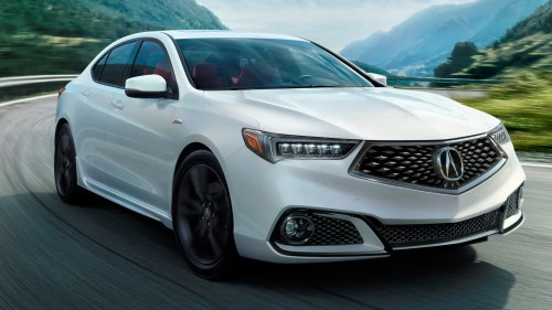 small resolution of the 2018 acura tlx brings back a mild performance trim with a new angry face