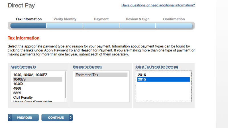 Irs Online Pay Bill Can I Tax My